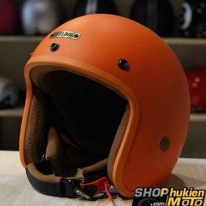 Mũ bảo hiểm 3/4 Bulldog (V1) (Cam nhám) (size: M/L/XL)