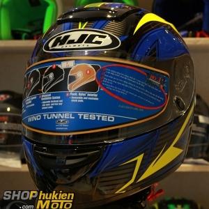 Mũ Bảo Hiểm Fullface HJC COOL ROCKER (Đen vàng xanh đậm) (Size: M/L/XL)