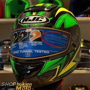 Mũ Bảo Hiểm Fullface HJC COOL ROCKER (Đen vàng xanh lá) (Size: M/L/XL)