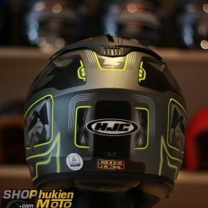 Mũ bảo hiểm HJC IS-17 URUK (Xám đen nhám sọc vàng) (size:M/ L/XL)