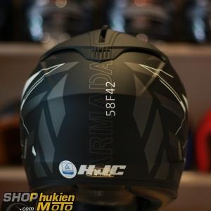 Mũ bảo hiểm HJC IS-17 ARMADA (Đen nhám sọc trắng nhám) (size:M/ L/XL)