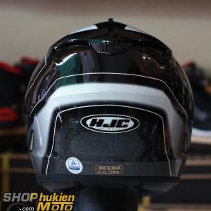 Mũ bảo hiểm HJC IS-17 Arcus (Đen trắng bóng viền trắng) (Size: L/XL)