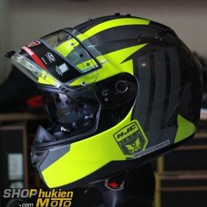 Mũ bảo hiểm HJC IS-17 Grapple (Vàng bóng viền xám) (size: L/XL)
