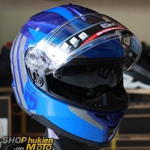 Mũ bảo hiểm HJC IS-17 Grapple (Xanh đậm bóng viền xám) (size: L/XL)