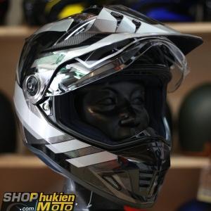 Mũ bảo hiểm Off Road- cào cào HJC DS-X1 (Đen bóng viền xám) (Size: M/L/XL)