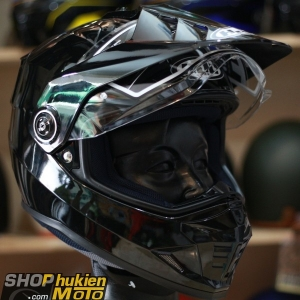 Mũ bảo hiểm Off Road- cào cào HJC DS-X1 (Đen bóng) (Size: M/L/XL)