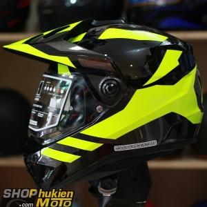 Mũ bảo hiểm Off Road- cào cào HJC DS-X1 (Đen bóng viền vàng) (Size: M/L/XL)