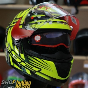 Mũ bảo hiểm Fullface LS2 FF320 Stream (Vàng đen bóng) (Size: S/M/L/XL)