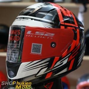 Mũ bảo hiểm Fullface LS2 FF320 Stream (Trắng đỏ đen bóng) (Size: S/M/L/XL)