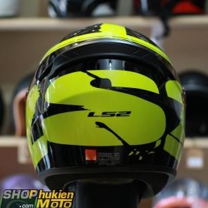 Mũ bảo hiểm Fullface LS2 FF352 Rookie (Đen vàng bóng) (Size: S/M/L/XL/XXL)
