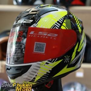 Mũ bảo hiểm Fullface LS2 FF352 Rookie (Vàng trắng đen bóng) (Size: S/M/L/XL/XXL)