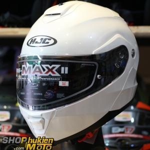 Mũ Bảo Hiểm Lật Cằm (Flip up) HJC IS -Max II (Trắng Bóng) (size: M/L/XL)
