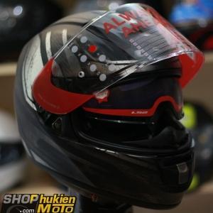 Mũ bảo hiểm Fullface LS2 Vector FF397 (RAZOR MATT BLACK) (Size: M/L/XL/XXL)