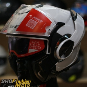 Mũ bảo hiểm Lật Cằm LS2 FF399 Valiant white (Size: M/L/XL)