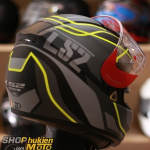 Mũ Fullface LS2 Vector FF397 (VANTAGE MATT BLACK YELLOW) (Size: M/L/XL/XXL)