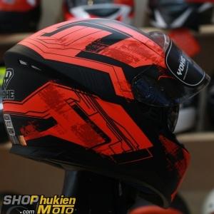 Mũ bảo hiểm Fullface YOHE 967 2 kính (đỏ/ đen nhám) (Size: S/M/L/XL)