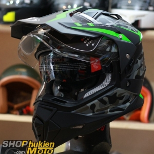 Mũ bảo hiểm Cào Cào DUAL SPORT YOHE 632A (Camo xanh nhám) (Size: S/M/L/XL/XXL)