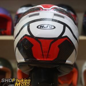 Mũ bảo hiểm Fullface HJC CS-15 Sebka MC1 (Đen trắng/ đỏ bóng) (Size: M/L/XL)