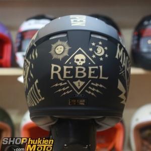 Mũ bảo hiểm Fullface CS-15 Rebel MC9F (đen đồng nhám) (Size: M/L/XL)