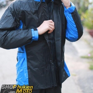 Áo mưa bộ Givi RRS07.AX-NB (Đen/xanh) (SIZE:S/M/L/XL/XXL)