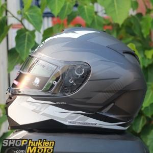 Mũ bảo hiểm HJC IS-17 TARIO (Đen xám viền trắng nhám) (size: M/L/XL)