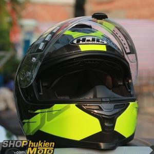 Mũ bảo hiểm HJC IS-17 TARIO (Đen xám viền vàng bóng) (size: M/L/XL)