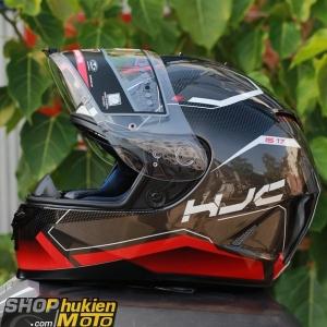 Mũ bảo hiểm HJC IS-17 Loktar (Đỏ đen bóng viền trắng) (size: M/L/XL)