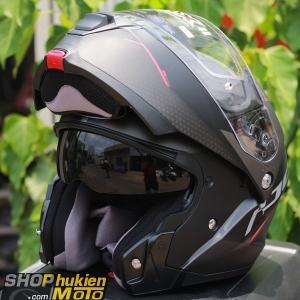 Mũ Bảo Hiểm Lật Cằm HJC IS -Max II Dova (Đen đỏ nhám) (size: M/L/XL)