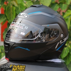 Mũ Bảo Hiểm Lật Cằm HJC IS -Max II Dova (Đen xanh nhám) (size: M/L/XL)