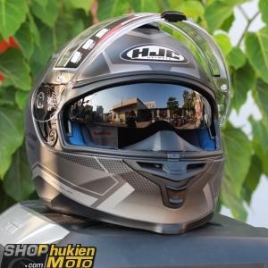 Mũ bảo hiểm HJC IS-17 Loktar (Đen xám nhám) (size: M/L/XL)