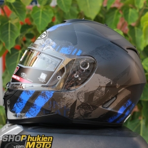 Mũ bảo hiểm HJC IS-17 Shapy (Đen xám xanh nhám) (size: M/L/XL)