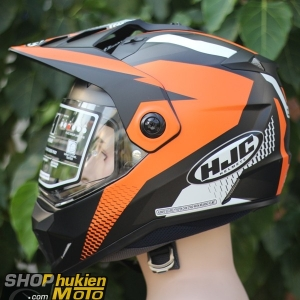 Mũ bảo hiểm Off Road- cào cào HJC DS-X1 (Đen nhám viền cam) (Size: M/L/XL/XXL)