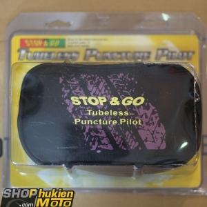 Bộ vá và bơm xe Stop & go (hàng chính hãng)