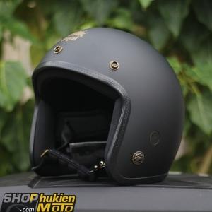 Mũ bảo hiểm 3/4 ROYAL M20B (Màu đen nhám) (Size M/ L)