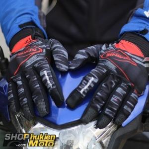 Găng tay Komine GK-219 (Đen/đỏ) (Size: M/L/XL/XXL)