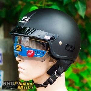 Mũ bảo hiểm 1/2 HJC IS-2 (Đen nhám) (size M/ L/XL)