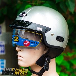 Mũ bảo hiểm 1/2 HJC IS-2 (Bạc bóng) (size M/ L/XL)