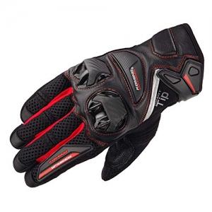 Găng tay Komine GK-234 (Đen/đỏ) (Size: M/L/XL/XXL)