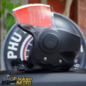 Mũ bảo hiểm 3/4 Sunda 227 (đen nhám) (size: L/XL)