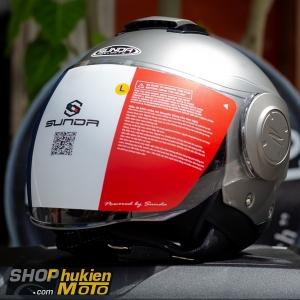 Mũ bảo hiểm 3/4 Sunda 227 (lông chuột nhám) (size: L/XL)