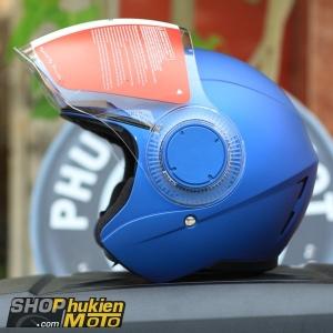 Mũ bảo hiểm 3/4 Sunda 621 (xanh dương nhám) (size: L/XL)