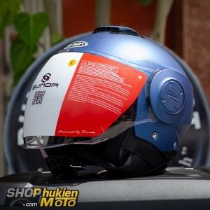 Mũ bảo hiểm 3/4 Sunda 227 (xanh dương nhám) (size: L/XL)