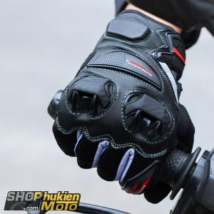 Găng tay Komine GK-234 (Đen/xám) (Size: M/L/XL/XXL)