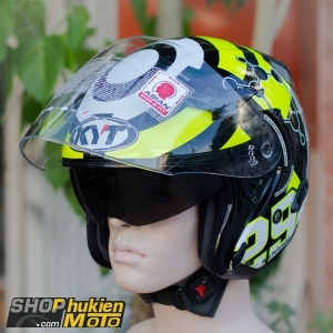 Mũ bảo hiểm 3/4 KYT VENOM (IANNONE 2015 REPLICA) (Size: L/XL)