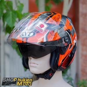 Mũ bảo hiểm 3/4 KYT VENOM (ANDY GILANG) (Size: L/XL)