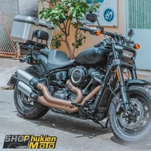 Thùng nhôm GIVI gắn cho Harley-Davidson Fat Bob 107 (Gồm: thùng nhôm và đế E251)