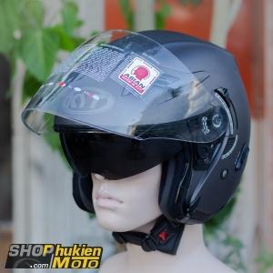 Mũ bảo hiểm 3/4 KYT VENOM (PLAIN ANTHRACITE MATT) (Size: L/XL)