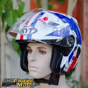 Mũ bảo hiểm 3/4 KYT VENOM (STAR) (Size: L/XL)