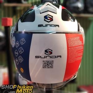 Nón Sunda 621 ( Đen trắng đỏ) (size: L)