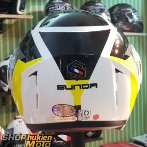 Nón Sunda 621 ( Đen trắng vàng) (size: L)